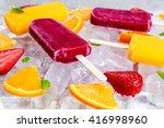 Refreshing Fruit Popsicle...