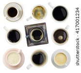 various coffee set  clipping... | Shutterstock . vector #417001234