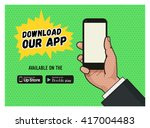download page of the mobile... | Shutterstock .eps vector #417004483