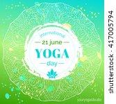 vector yoga illustration.... | Shutterstock .eps vector #417005794