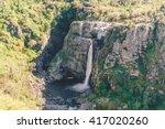 famous waterfall in pozo de los ... | Shutterstock . vector #417020260