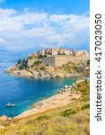 A View Of Calvi Town And...