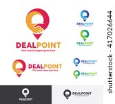 deal point logo with hand shake ... | Shutterstock .eps vector #417026644