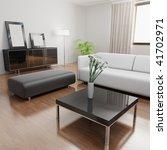 3d rendering a modern living...   Shutterstock . vector #41702971