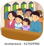 stickman illustration of a... | Shutterstock .eps vector #417029980