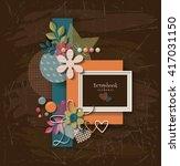 framework for invitation or... | Shutterstock .eps vector #417031150
