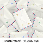 pile of detailed realistic mail ... | Shutterstock .eps vector #417032458