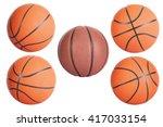 Basketball Balls Isolated On...
