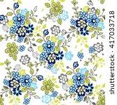 cute seamless floral pattern.... | Shutterstock .eps vector #417033718