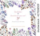 background  template postcard...   Shutterstock . vector #417038509