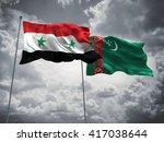 3d illustration of syria  ...   Shutterstock . vector #417038644
