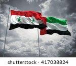 3d illustration of syria  ... | Shutterstock . vector #417038824
