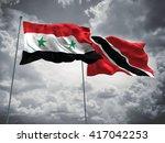 3d illustration of syria  ... | Shutterstock . vector #417042253