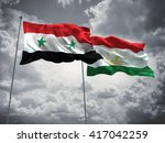 3d illustration of syria  ... | Shutterstock . vector #417042259
