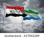 3d illustration of syria  ... | Shutterstock . vector #417042289
