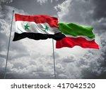 3d illustration of syria  ... | Shutterstock . vector #417042520