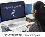 customer support assistance... | Shutterstock . vector #417047128