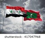 3d illustration of syria  ... | Shutterstock . vector #417047968