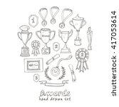 set of decorative sketch award... | Shutterstock .eps vector #417053614