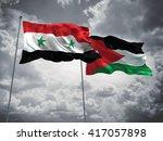 3d illustration of syria  ... | Shutterstock . vector #417057898