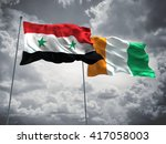 3d illustration of syria  ... | Shutterstock . vector #417058003