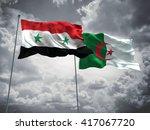 3d illustration of syria  ... | Shutterstock . vector #417067720