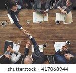 business meeting team... | Shutterstock . vector #417068944