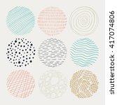 vector illustration of abstract ... | Shutterstock .eps vector #417074806