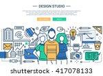 illustration of vector modern... | Shutterstock .eps vector #417078133