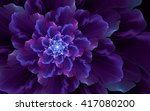 Abstract Fractal  Wavy Violet...