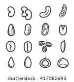 nut and seed icon.line vector. | Shutterstock .eps vector #417082693