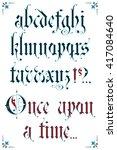 gothic alphabet | Shutterstock .eps vector #417084640