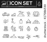 icon set travel and outdoor. ... | Shutterstock .eps vector #417086530
