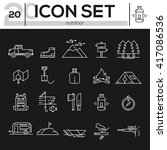 icon set travel and outdoor. ... | Shutterstock .eps vector #417086536