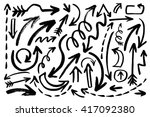 hand drawn vector collection of ... | Shutterstock .eps vector #417092380