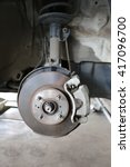 Wheel Hub Of A Car In Repair O...