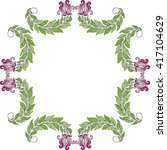 floral nature pattern card... | Shutterstock .eps vector #417104629