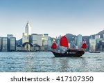 beautiful view of traditional... | Shutterstock . vector #417107350