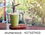 green tea frappe | Shutterstock . vector #417107410