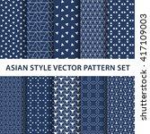 10 different asian patterns ... | Shutterstock .eps vector #417109003