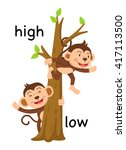 opposite words high and low... | Shutterstock .eps vector #417113500