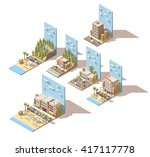vector isometric icon set or... | Shutterstock .eps vector #417117778