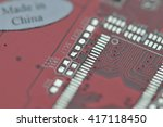 computer part made in china | Shutterstock . vector #417118450