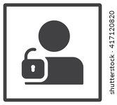 user login or authenticate icon | Shutterstock .eps vector #417120820