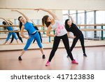 group of people at the gym in a ... | Shutterstock . vector #417123838