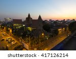 Night View Of Phnom Penh With...