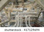 oil refinery  | Shutterstock . vector #417129694