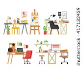 workspace | Shutterstock .eps vector #417132439