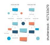 flow chart scheme. infographics ... | Shutterstock .eps vector #417132670