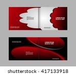 black bi fold brochure template ... | Shutterstock .eps vector #417133918